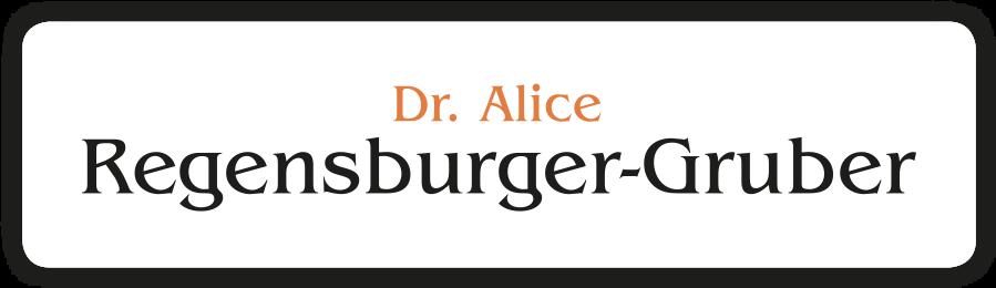 Dr. Alice Regensburger-Gruber Logo
